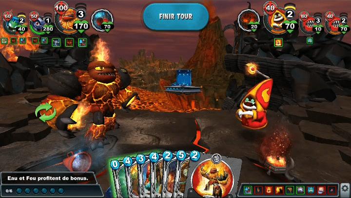 Skylanders Battlecast combat