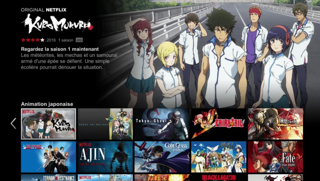 Catégorie animation japonaise (un trop cachée) sur Netflix