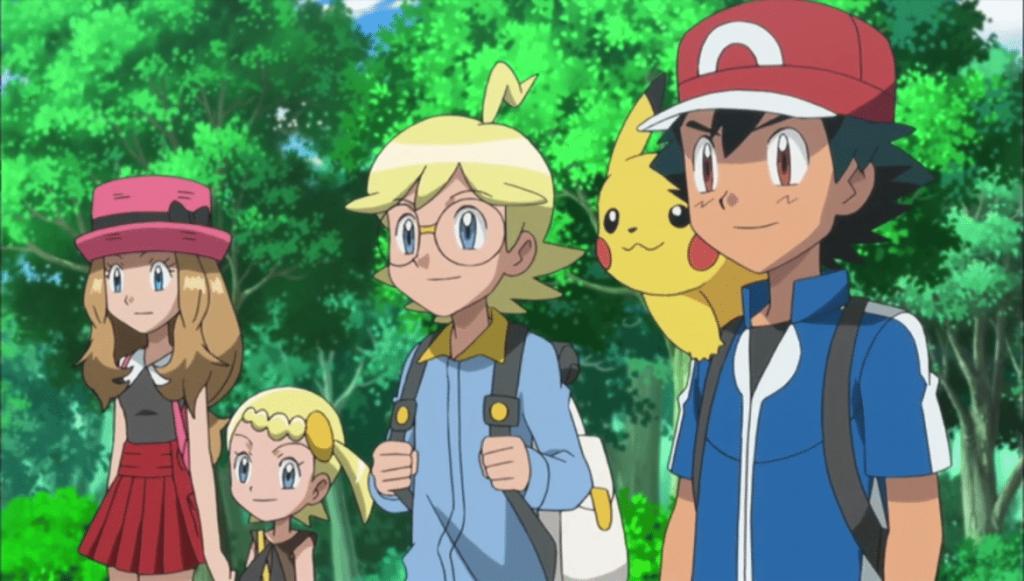 Sacha, Serena et l'équipe de Pokemon XY