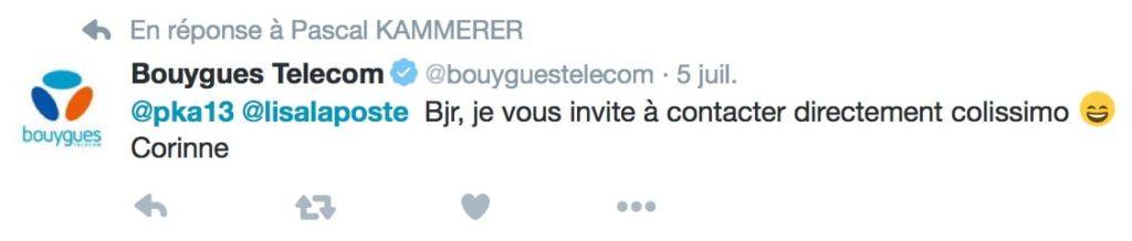 Le smiley de Bouygues Telecom
