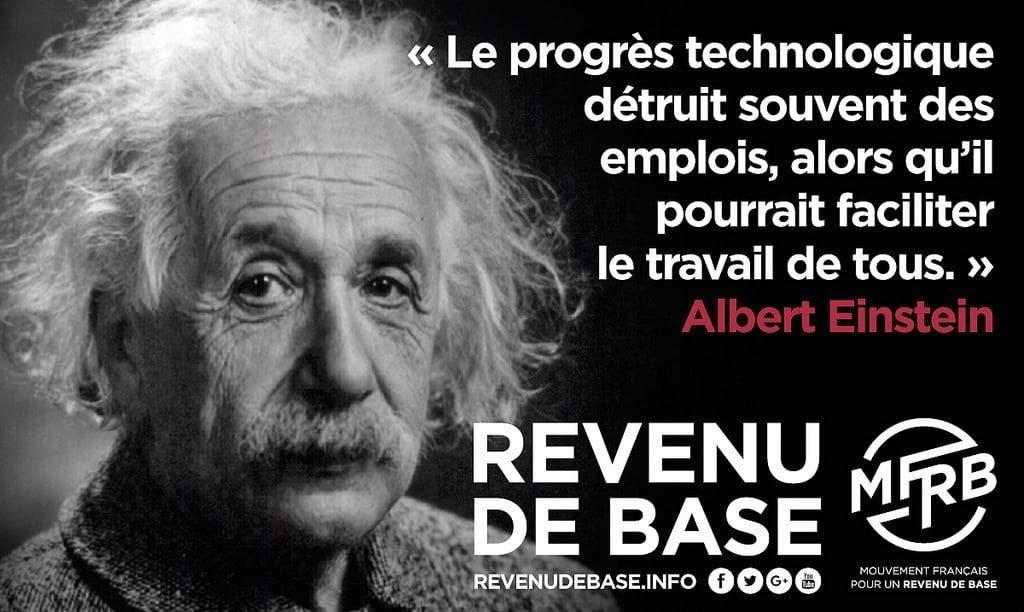 Revenu de base Albert Einstein