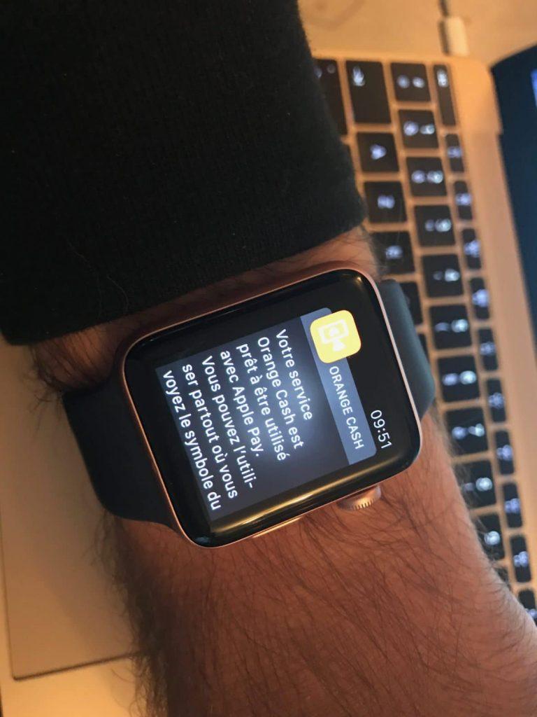 Orange Cash et Apple Watch