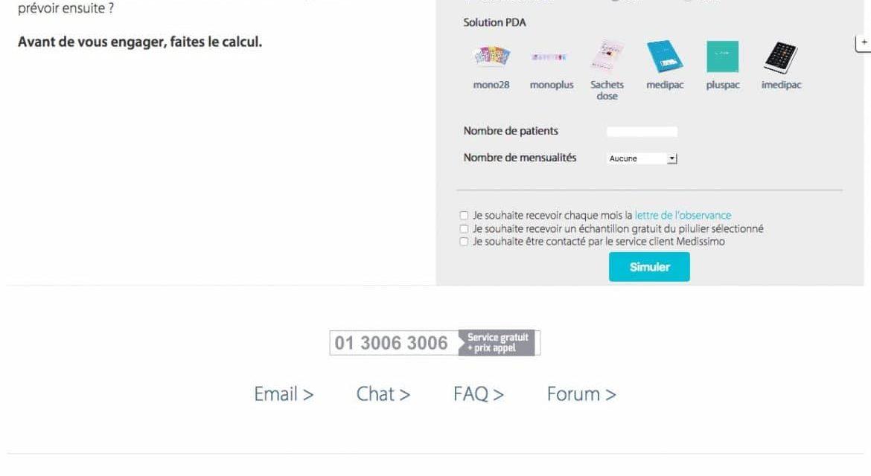 Nouveau site, simulateurs, e-commerce, affiliation, Amazon, et newsletter. Nos dernières réalisations pour Medissimo.