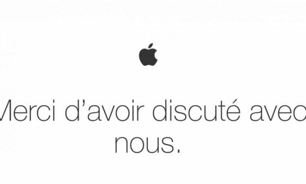 """""""Merci d'avoir discuté avec nous"""". Quand Apple n'est pas au top de sa réputation."""