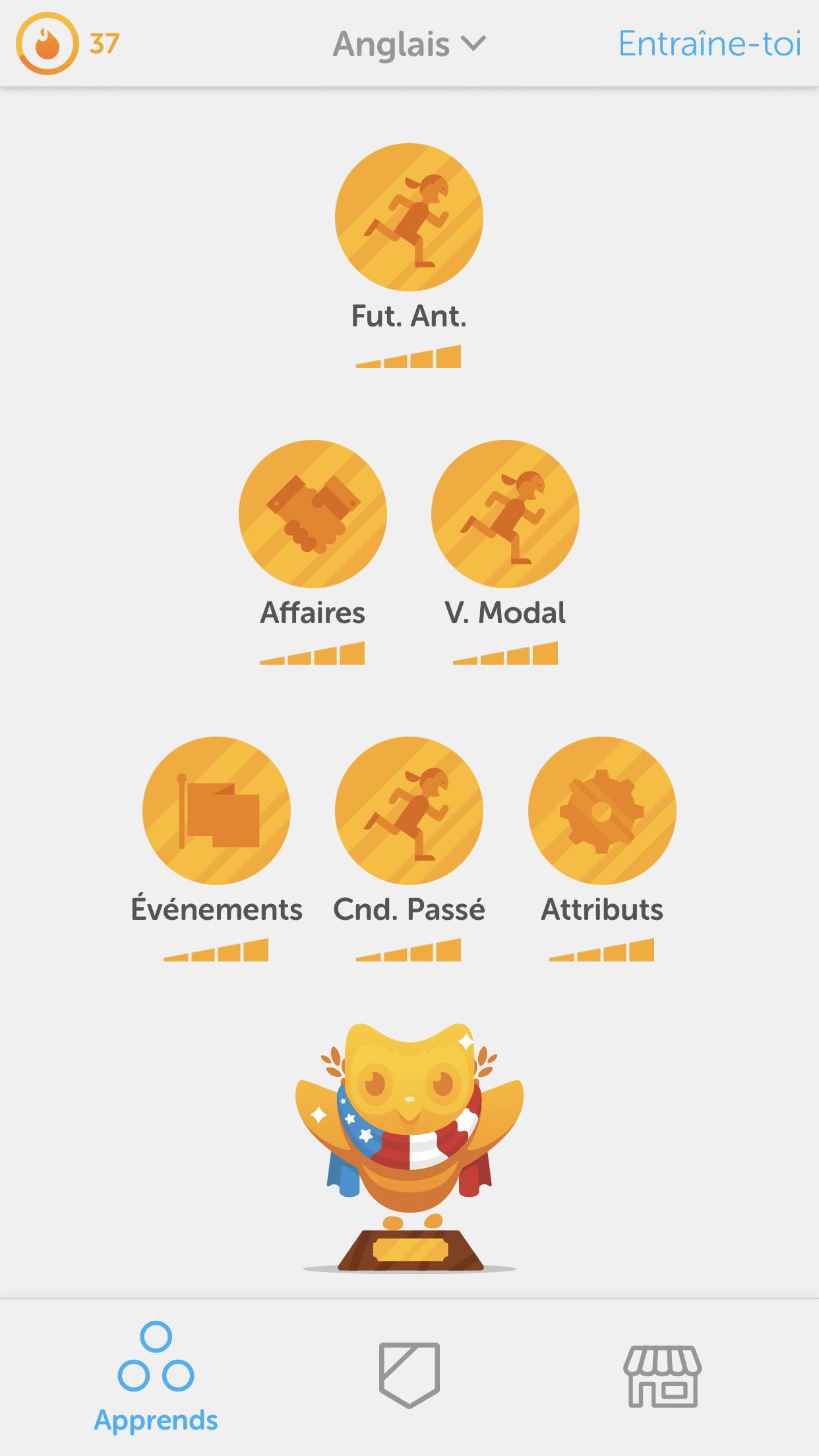 Duolingo-anglais-progression