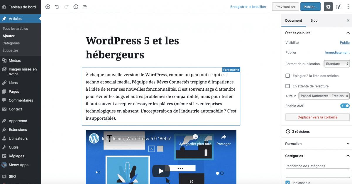 WordPress 5, Gutenberg et les hébergeurs. WP Serveur : Faut-il opter pour un spécialiste WordPress ?