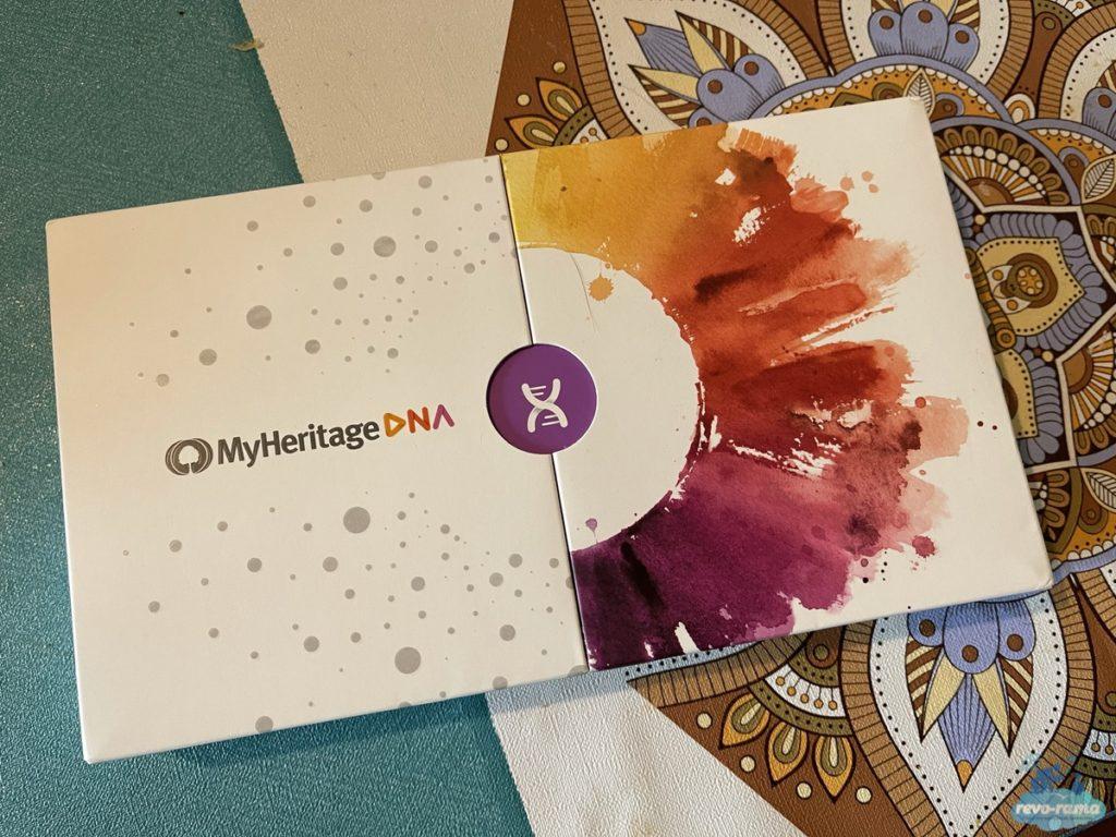 Jolie présentation pour le packaging MyHeritage DNA