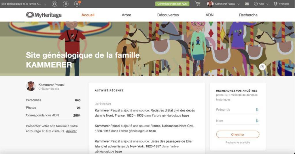 Le site généalogique de la famille