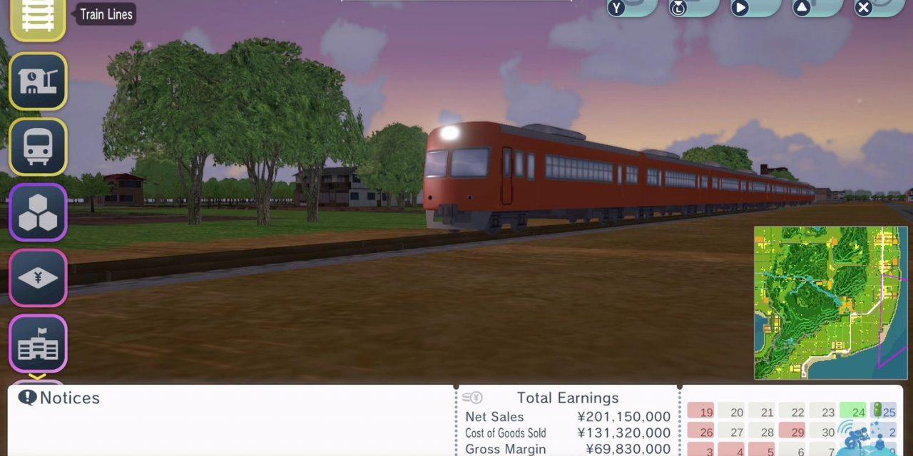 Pour les Ferrovipathes : A-Train: All Aboard! Tourism sur Nintendo Switch